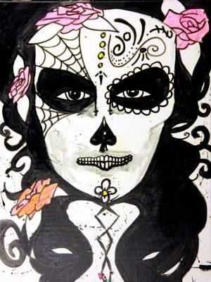 La Mujer en El Dia De Los Muertos