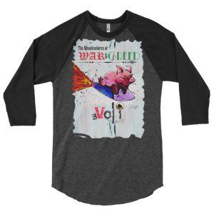 Misadventures of War & Greed 3/4 sleeve raglan shirt