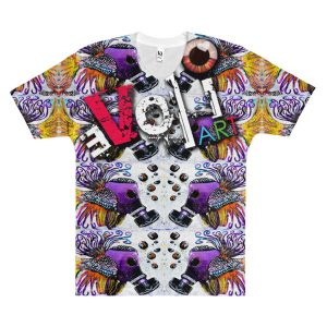 """F.U-B.P Fish"" Men's V-Neck T-Shirt"