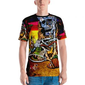 Cycle of Birth & Death Men's Sublimation Print T-shirt