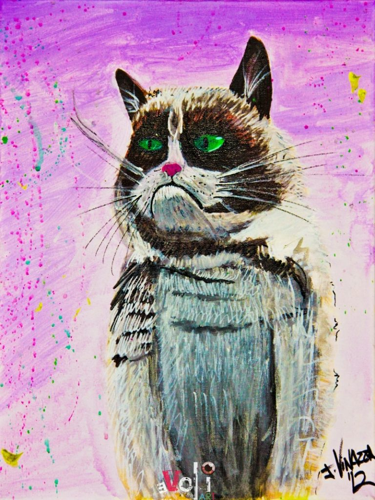 The Grumpy Cat | Cat Art