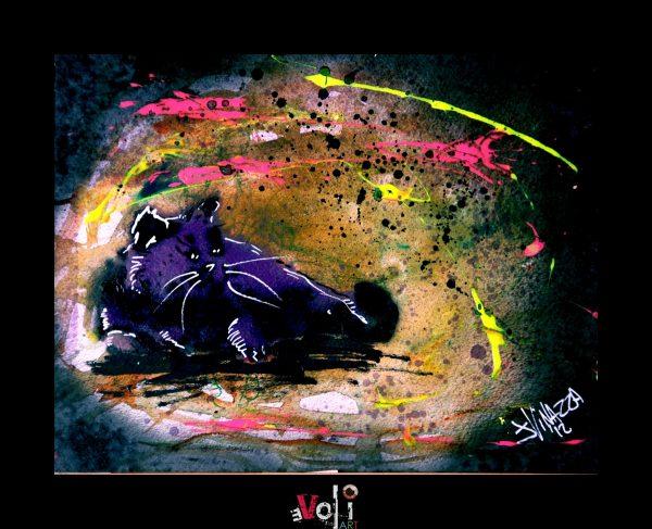 Purple Fat Cat