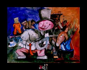 """Political Circus"" Original Art"