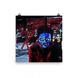 """Thriller"" Photo paper poster"
