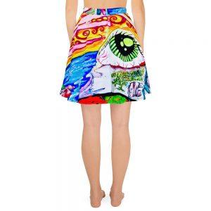 Eye In A Dreamscape Skater Skirt