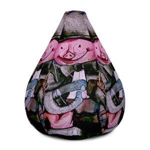 """""""Political Circus"""" Bean Bag Chair w/ filling"""