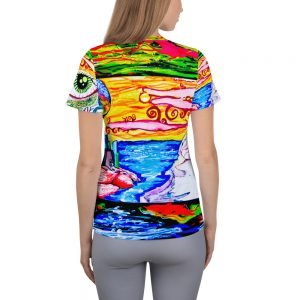 """""""Eye In The Dreamscape"""" All-Over Print Women's Athletic T-shirt"""