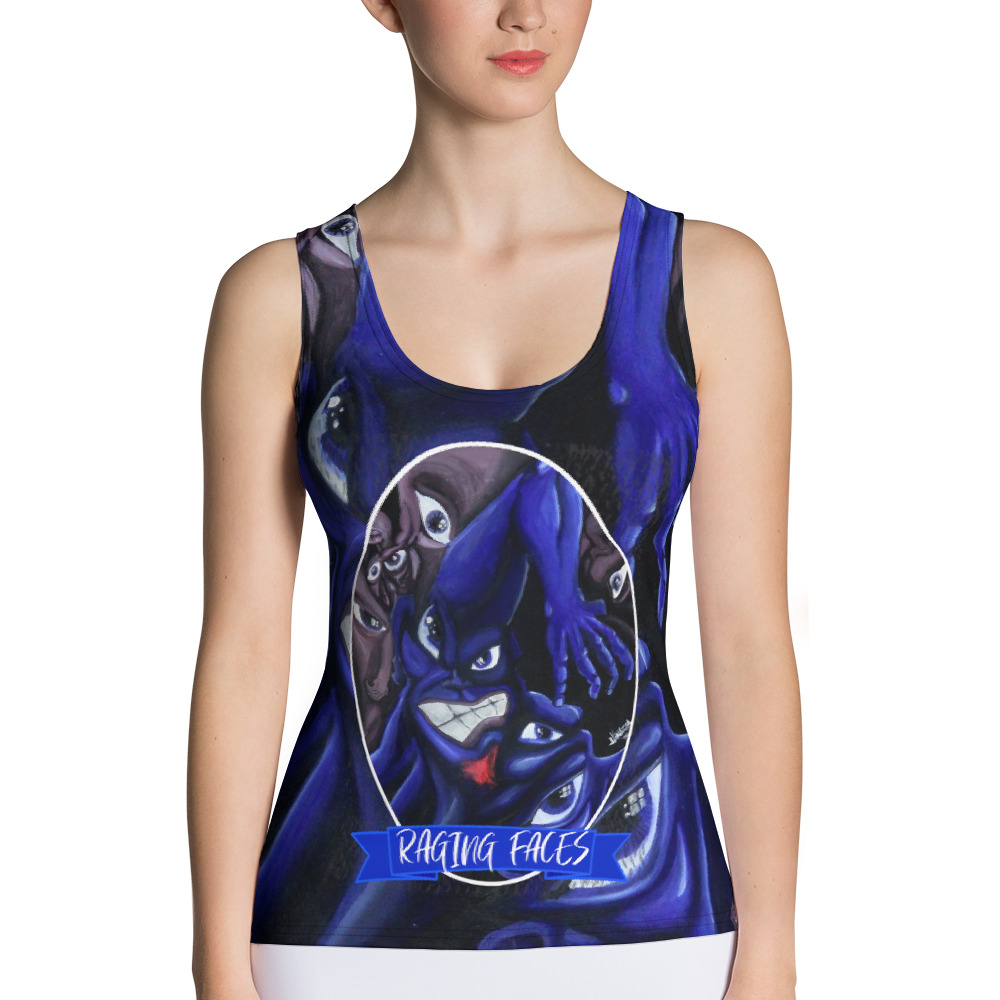 """""""Raging Faces"""" All-Over Print Women's Tank Top"""