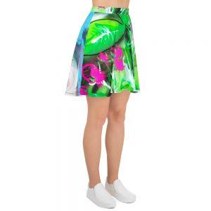 """""""Rose Garden On Acid"""" Skater Skirt"""