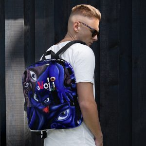 """Raging Faces"" All-Over Print Backpack"