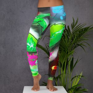 """Rose Garden On Acid"" All-Over Print Leggings"