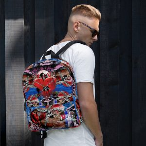 """Locked Heart Shaped Island – Love Is Evol"" Backpack"