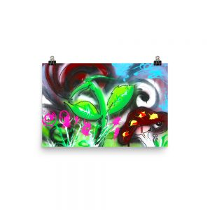 """Rose Garden on Acid"" Paper Poster (in)"