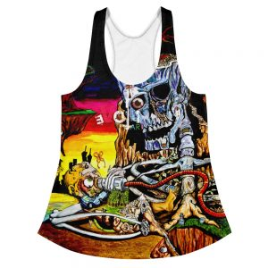 """""""Cycle of Birth and Death"""" Women's Racerback Tank"""