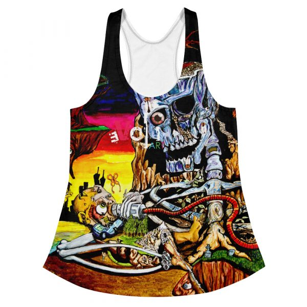 """Cycle of Birth and Death"" Women's Racerback Tank"
