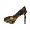 Yellow Fat Cat Women's High Heels (Model 044)