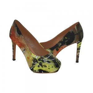 Yellow Fat Cat Women's High Heels (Model 044)