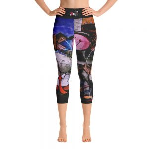 """Political Circus"" Yoga Capri Leggings"
