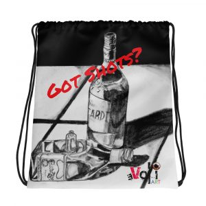 """Got Shots?"" Drawstring bag"