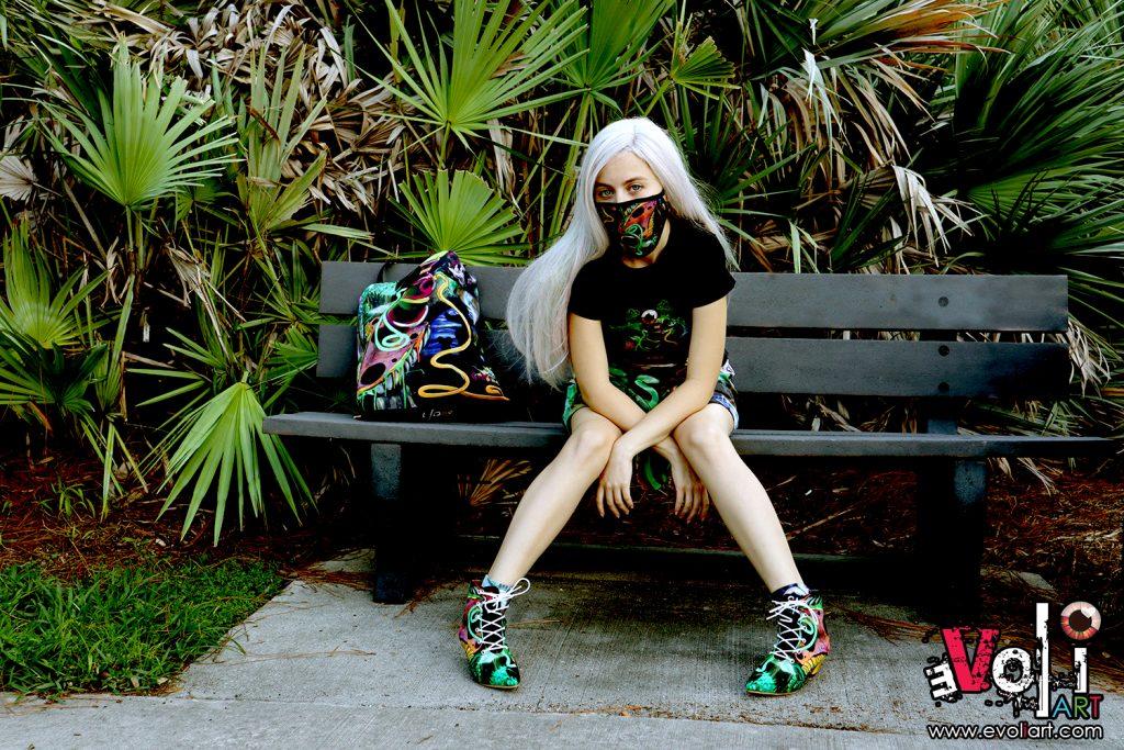 Women's Apparel - Shirt, Skirt, Socks, Shoes and Mask