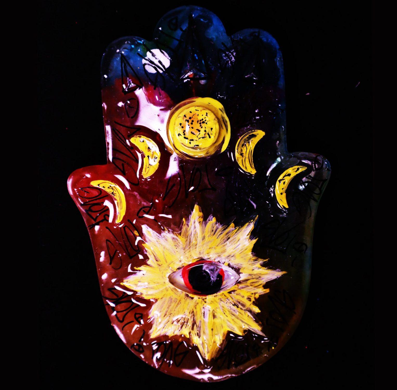 Eye Of Hamsa Incense Holder 2 Ft Lauderdale Pop Urban Surrealism South Florida Evol I Art